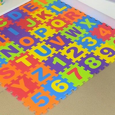 Kids Baby Boys Girls Foam Floor Soft Puzzle Play Mat Rug Crawling Carpet Decor