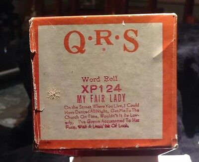Vintage QRS Player Piano Rolls My Fair Lady Musical XP-124 Word Roll