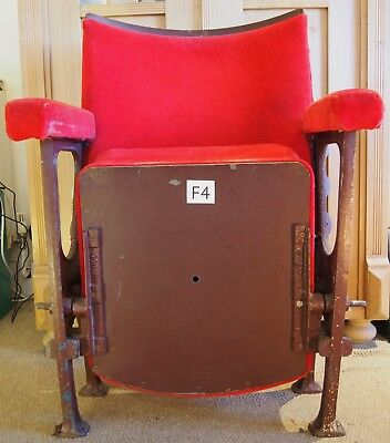 Vintage C1930s Art Deco Cinema Theatre Seats selling Two as a pair or higher