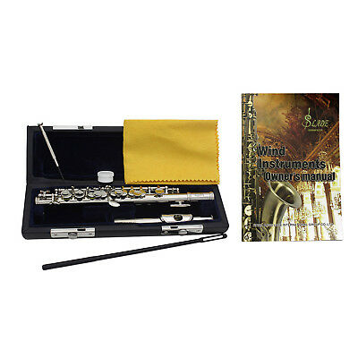 LADE Piccolo C Key With Hard Case Band Beginner Intermediate Brass Silver Plated
