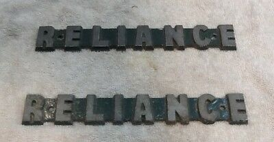Reliance Name Tags Removed From A Retired Navy Ship.