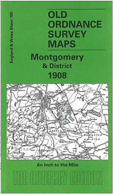Old Ordnance Survey Map Montgomery 1908 Newtown Bishops Castle Clun Beguildy