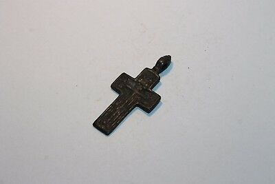 Ancient Russian Bronze Cross! XVII-XVIII Century! (D403)
