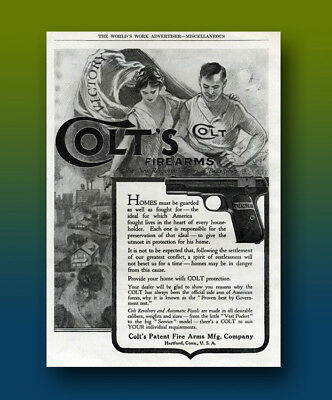 Vintage 1919 Colt Firearms Ad - Full page Ad