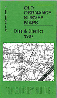 Old Ordnance Survey Map Diss 1907 East Harling Harleston Mendham Hoxne Alburgh