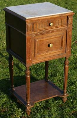 A FINE LATE 19th CENTURY FRENCH OAK  BEDSIDE CABINET