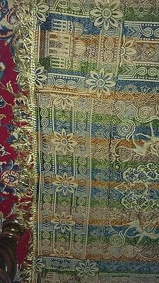Stunning vintage Tapestry Woven Fringe made in Italy 52x52