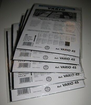 Lighthouse Vario 4-S Stock Pages 5 packs, 25 pages - NEW - Black, Double-Sided