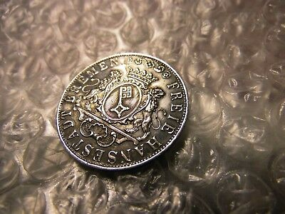 "German States 1859 Bremen 36 Grote Silver Extra Fine/aunc Coin ""on Sale Now"""