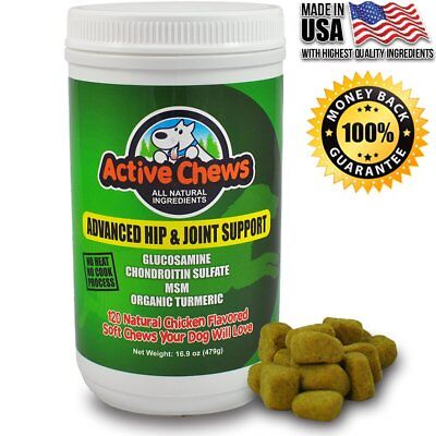 Premium Hip and Joint Dog Treats by Active Chews - Glucosamine for Dogs,