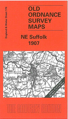 Old Ordnance Survey Map Ne Suffolk 1907 Lowestoft Beccles Bungay Southwold