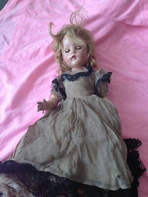 Vintage 1940 's Effanbee Suzanne composition Doll Dress with EFFANBEE Charm USA