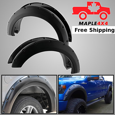 Protect & Stop Rust 09-14 FORD F150 Pocket Style Matte Black Fender Flare 4pc IM