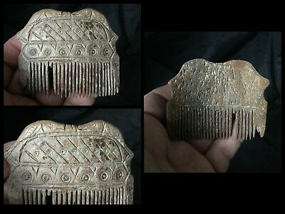 Rare Stunning Viking Pictorial Carved Hair Comb C9th !11th Cent AD.