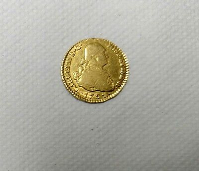 1 Escudo Gold Coin Charles III Dated 1792