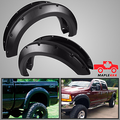 Cold Resistant1999-2007 Ford F250 SD/F350 SD Fender Flares Pocket Style 4pc Kit