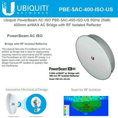 Ubiquiti PBE-5AC-400-ISO-US US Version 5GHz PowerBeam ac 400mm ISO