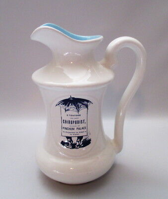 """Beauceware Beauce Pioneer Prints Pitcher Ewer Large 8"""" Blue White Advertising"""