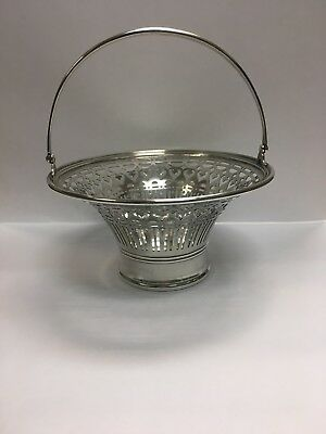 Tiffany & Co Makers Sterling Silver Pierced Basket With Handle