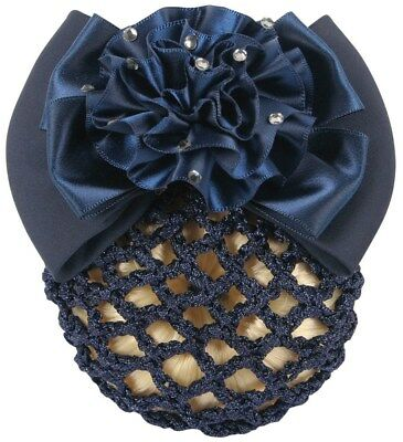 Harry's Horse Hair Clip with snood/net - Navy Harry's Horse