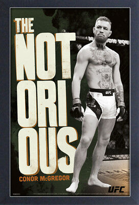 CONOR MCGREGOR 13x19 FRAMED GELCOAT POSTER MMA UFC NOTORIOUS IRISH FIGHT CHAMP!!