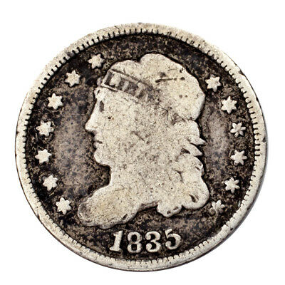 1835 Silver Capped Bust Half Dime H10C (Good, G Condition)