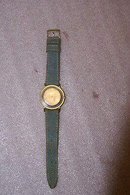 Vintage Timex Snoopy Peanuts Tennis Denim Band Mechanical Watch Works