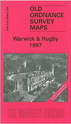 Old Ordnance Survey Map Warwick Rugby 1897 Leamington Kenilworth Willenhall