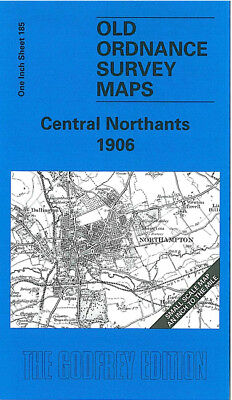 Old Ordnance Survey Map Central Northants 1906 Daventry Long Buckby Crick Sywell
