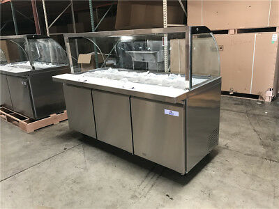 NSF 72 ins Cold table Buffet table Sneeze Guard