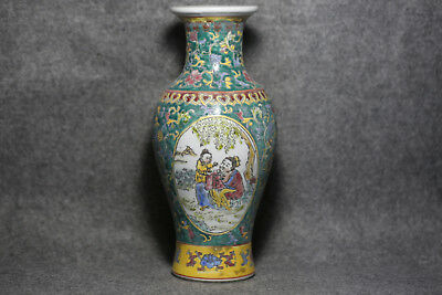 Exquisite Chinese vase with colorful porcelain vases M24