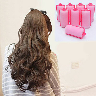 IK- HK- 12 Pcs Magic Trendy Foam Cushion Hair Styling Rollers Curlers Twist Tool