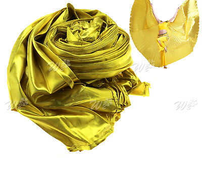 Egypt  ISIS WINGS Belly Dance Costume Dancers Props Wear Wing Gold Non-Split
