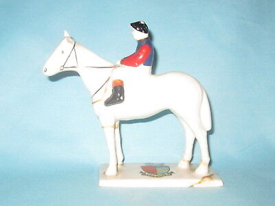 Carlton China Racehorse & Jockey* - NEWMARKET crest