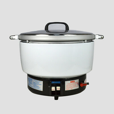 New  Natural Gas Commercial Rice Cooker 50 Cups 10L Capacity 2.8KPa US Stock