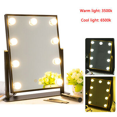Hollywood Makeup Mirror with Lights Vanity Cosmetic Beauty Mirror + 9 LED Bulbs