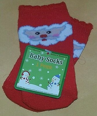 NEW High Point Designs Baby Socks 0-12 Months~Christmas/Santa--Boy/Girl/Neutral