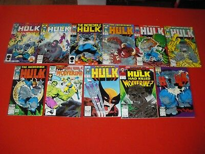 Hulk 340 180 181 336 -345 338 339 341 342 343 344 Hulk & Wolverine 1 What If? 50
