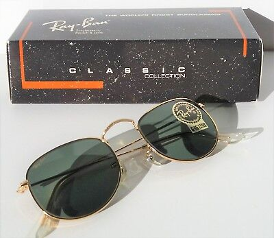 c69641ae9c ... low cost new vintage 90s usa bl ray ban sunglasses classic collection  ii 24k gold plated