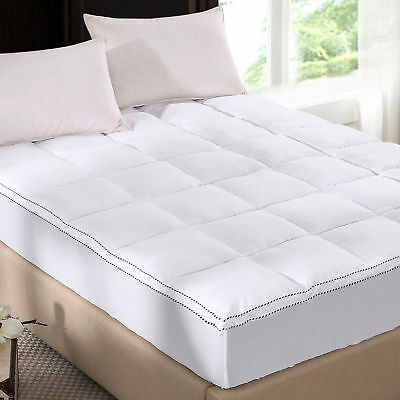 Royal Comfort 1000GSM Luxury Bamboo Fabric Gusset Mattress Pad Topper Cover King
