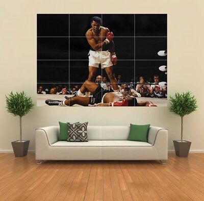 Muhammad Ali Vs Sonny Liston Giant Print Poster Large