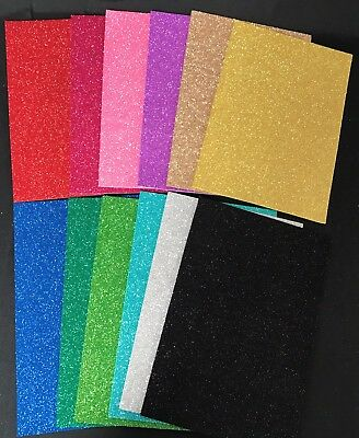 5 Sheets Eva Foam Glitter - Art & Craft & Diy 12 Assorted Colours 200Mm X 295Mm