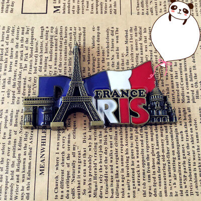 Paris' Landmarks, France, Tourist Travel Souvenir 3D Metal Fridge Magnet Gift