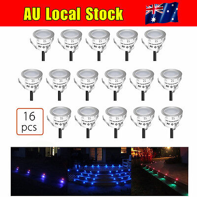 Fast Recessed LED Deck Lighting Kits Garden Pool Deck Warm White IP67 Waterproof