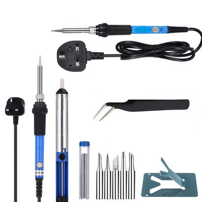 UK 9 Pieces Set Soldering Iron Kit 60w 220 Volt Best for Small Electric Work