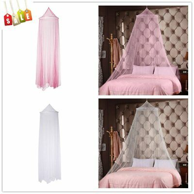 White&Pink Round Bed Canopy Mosquito Net Kids' Bedroom Curtain Hanging Dome Nets