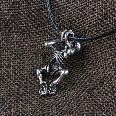 Nordic Norse Vikings Skeleton Skull Amulet Talisman Pendant Necklace Chain
