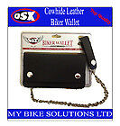 Cowhide Top Quality Leather MOTORCYCLE Biker Bifold Wallet with Chain AC-27