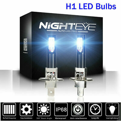 NIGHTEYE 2PCS H1 LED Fog Light Bulbs Replace Cool White 160W 1600LM - Warranty