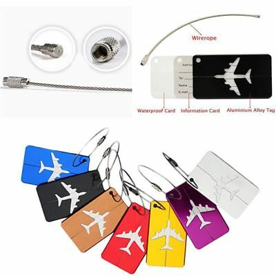 1pc Aluminium Travel Luggage Baggage Suitcase Address Tag Label Holder 7 Colors